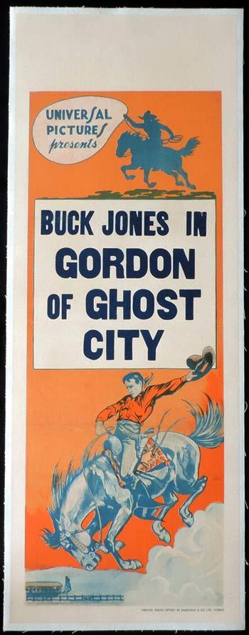 GORDON OF GHOST CITY Long Daybill Movie poster 1933 Buck Jones Universal Serial Western