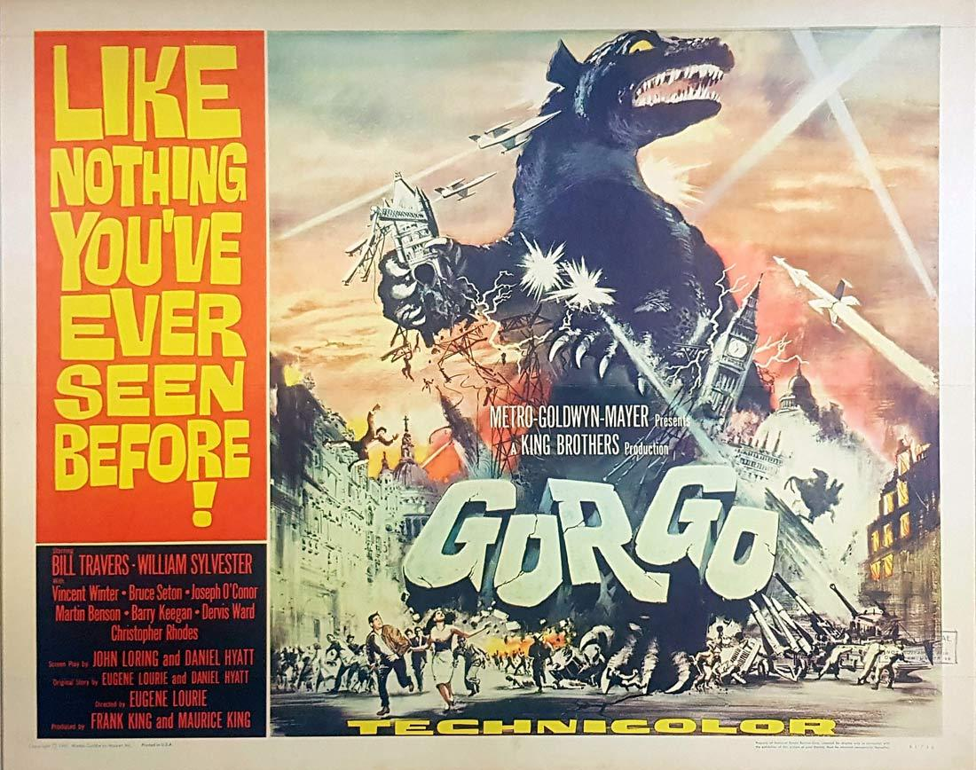 GORGO Original US HALF SHEET Movie Poster SCI FI 1961 Bill Travers