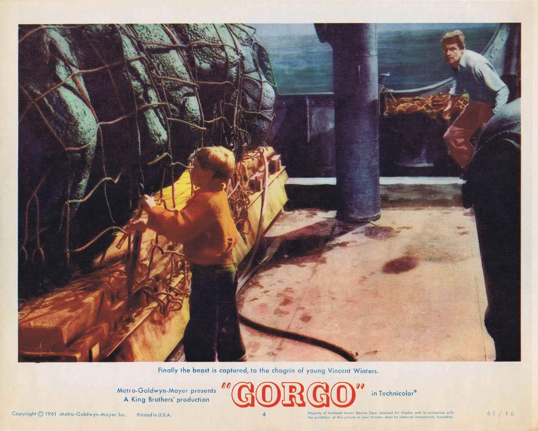 GORGO Lobby Card 4 Sci Fi Bill Travers Sea Monster