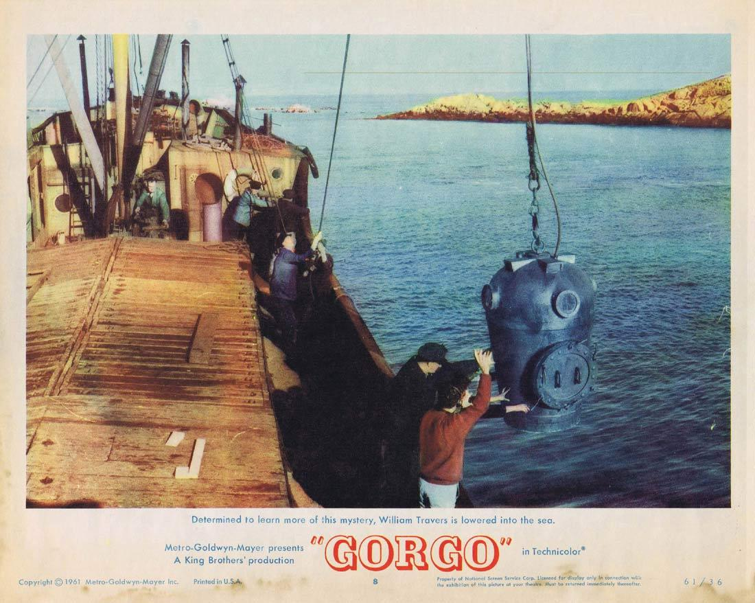 GORGO Lobby Card 8 Sci Fi Bill Travers Sea Monster