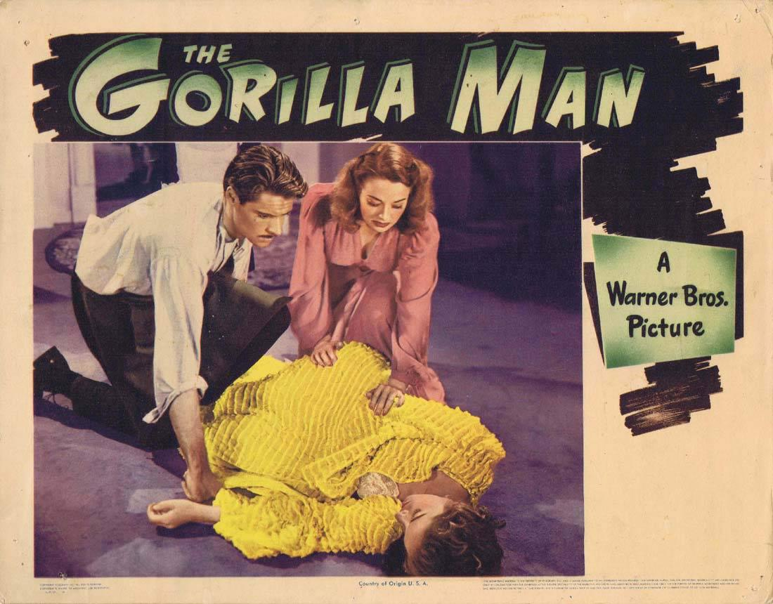 THE GORILLA MAN 1943 John Loder Ruth Ford Lobby card