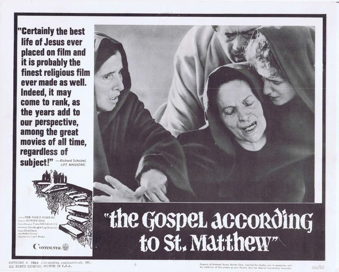 GOSPEL ACCORDING TO ST MATTHEW Original Lobby Card 6 Pier Paolo Pasolini