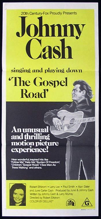 GOSPEL ROAD Daybill Movie poster Johnny Cash