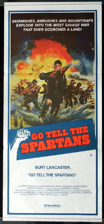 GO TELL THE SPARTANS 1978 Burt Lancaster Daybill Movie poster