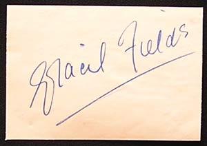 GRACIE FIELDS – Autograph