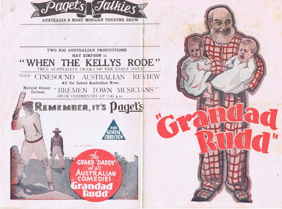 GRANDAD RUDD 1935 Dad and Dave Ken G. Hall RARE Movie Herald
