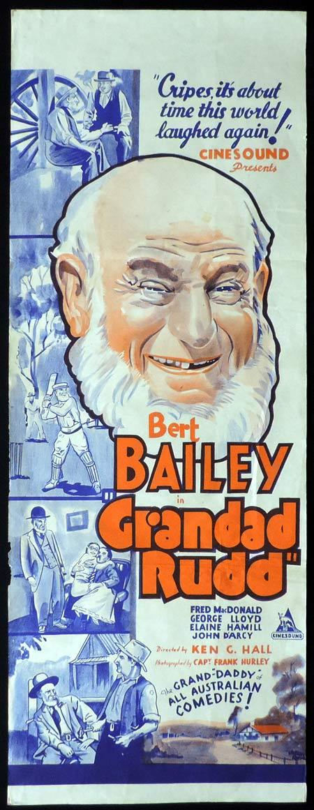 "GRANDAD RUDD Long Daybill Movie Poster Dad and Dave Ken G. Hall RARE ""B"""
