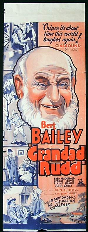 "GRANDAD RUDD Long Daybill Movie Poster Dad and Dave Ken G. Hall RARE ""A"""