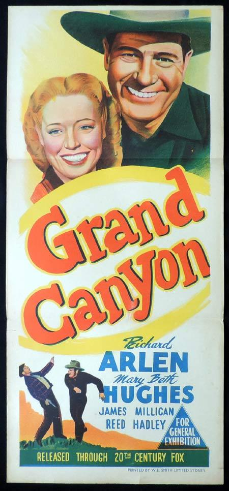 GRAND CANYON Original Daybill Movie Poster Richar Arlen
