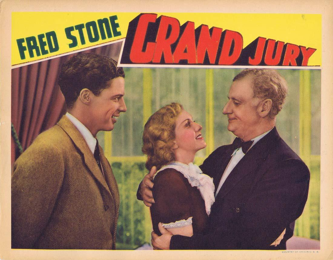 GRAND JURY Original Lobby Card Louise Latimer Fred Stone 1936