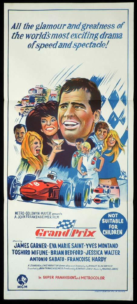 GRAND PRIX Original Daybill Movie Poster James Garner Motor Racing