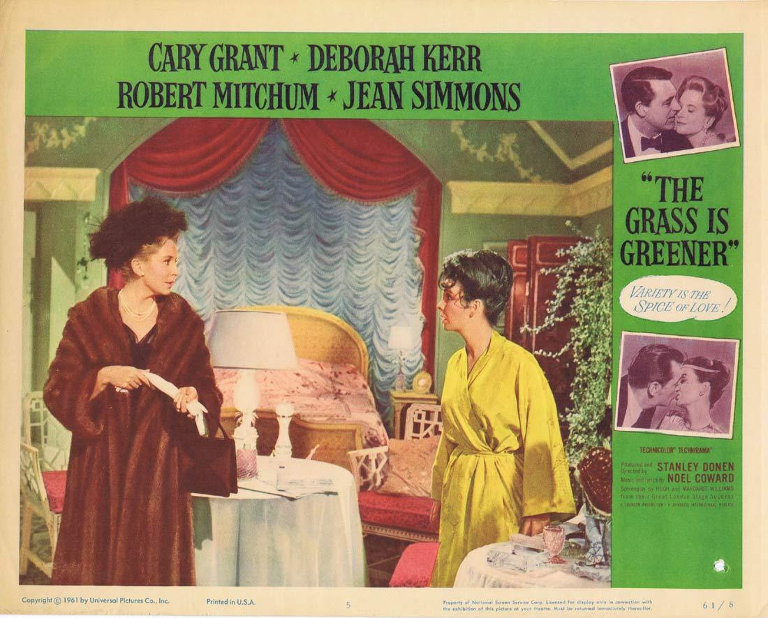 THE GRASS IS GREENER Original Lobby Card 5 Cary Grant Deborah Kerr