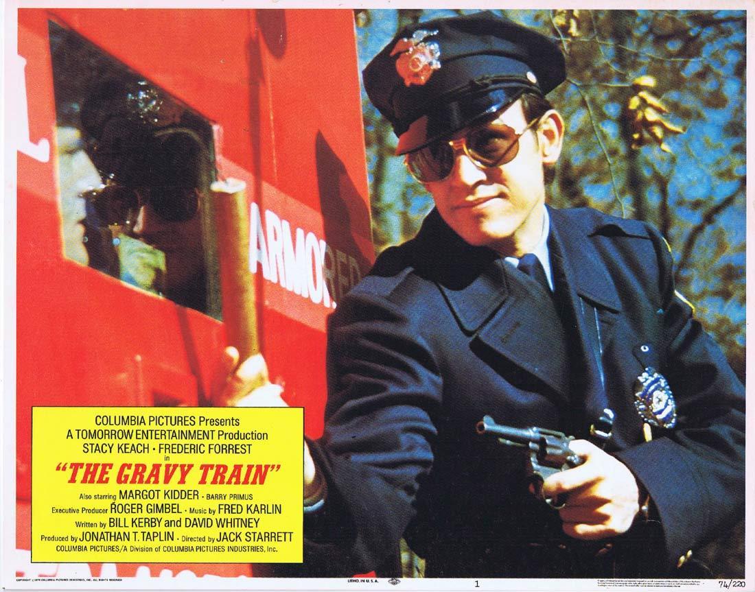 THE GRAVY TRAIN Original Lobby Card 1 Stacy Keach Frederic Forrest