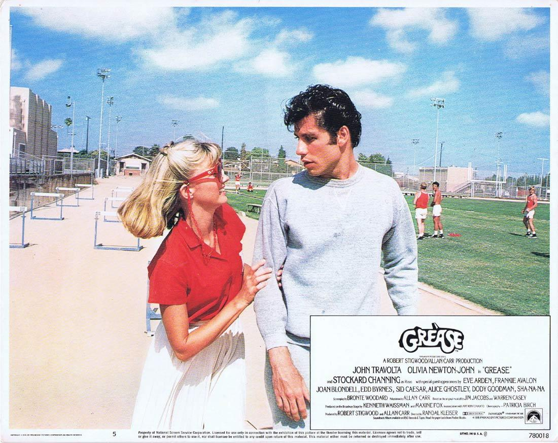 GREASE Lobby Card 5 Olivia Newton-John John Travolta