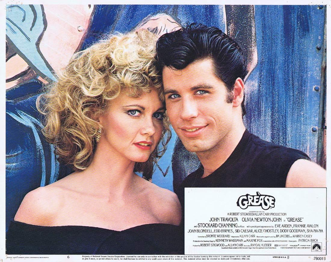 GREASE Lobby Card 6 Olivia Newton-John John Travolta