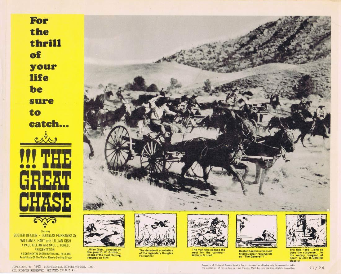 THE GREAT CHASE Lobby Card 2 Lillian Gish Buster Keaton Douglas Fairbanks