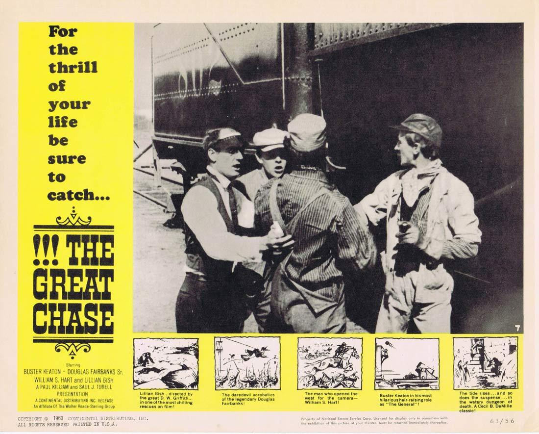 THE GREAT CHASE Lobby Card 3 Lillian Gish Buster Keaton Douglas Fairbanks