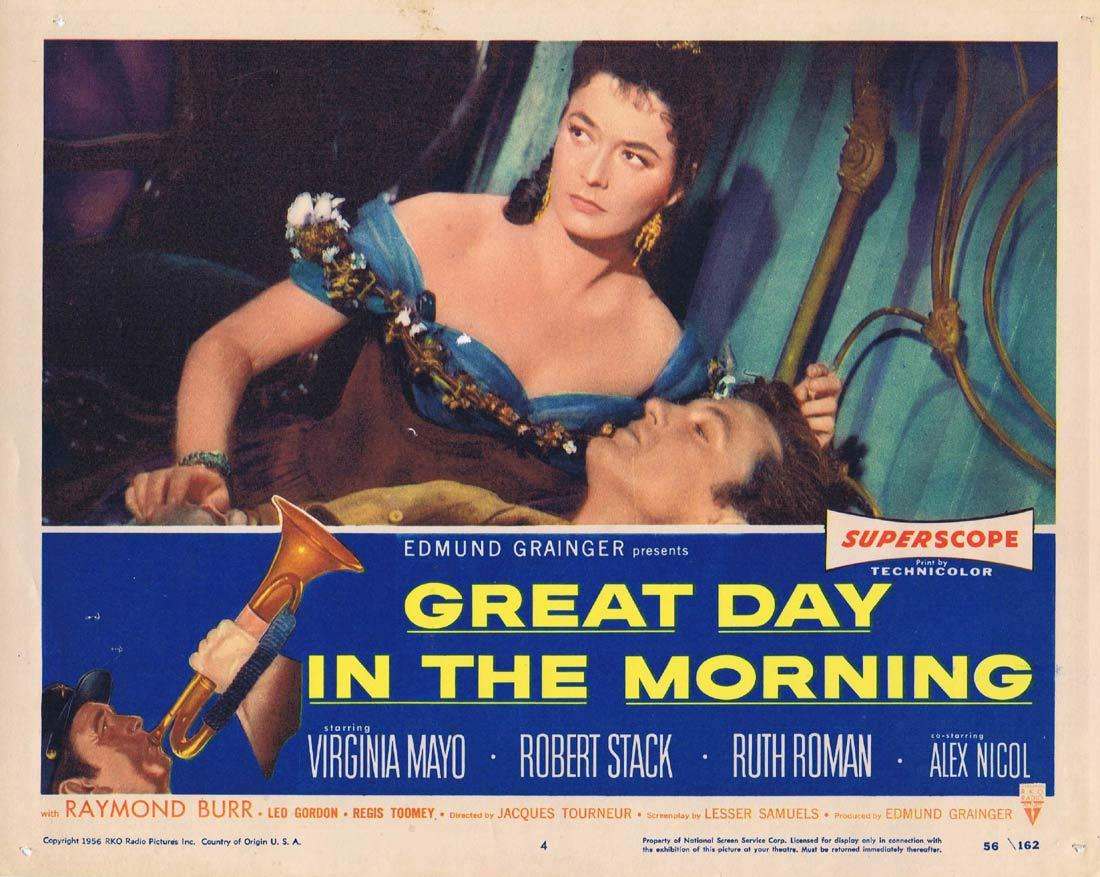 GREAT DAY IN THE MORNING Lobby Card Robert Stack Virginia Mayo Ruth Roman