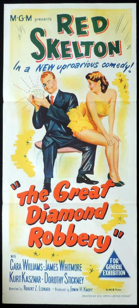 THE GREAT DIAMOND ROBBERY Original Daybill Movie Poster Kay Kendall Stanley Holloway