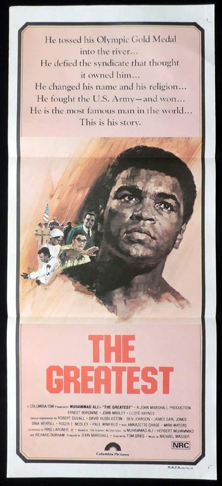 THE GREATEST Original Daybill Movie Poster Muhammad Ali Cassius Clay Boxing