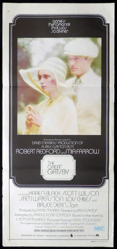 THE GREAT GATSBY Original Daybill Movie Poster Robert Redford