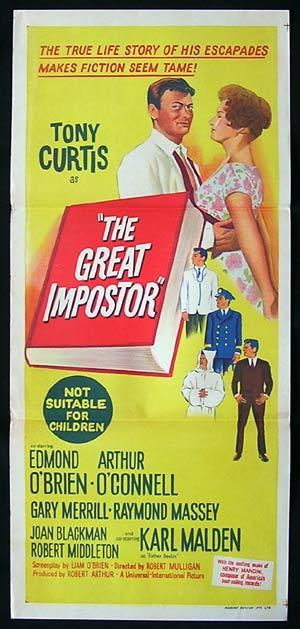 THE GREAT IMPOSTER Movie poster 1961 Tony Curtis daybill