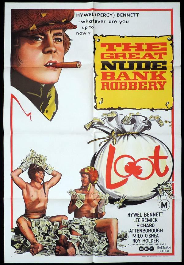 LOOT GREAT NUDE BANK ROBBERY One Sheet Movie Poster Hywell Bennett