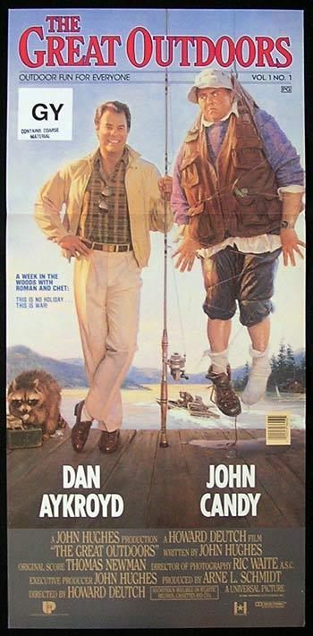 THE GREAT OUTDOORS daybill Movie poster John Candy Dan Aykroyd