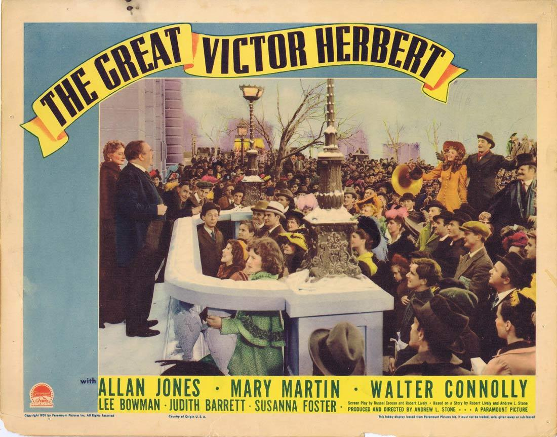 THE GREAT VICTOR HERBERT Lobby Card Allan Jones Mary Martin Walter Connolly