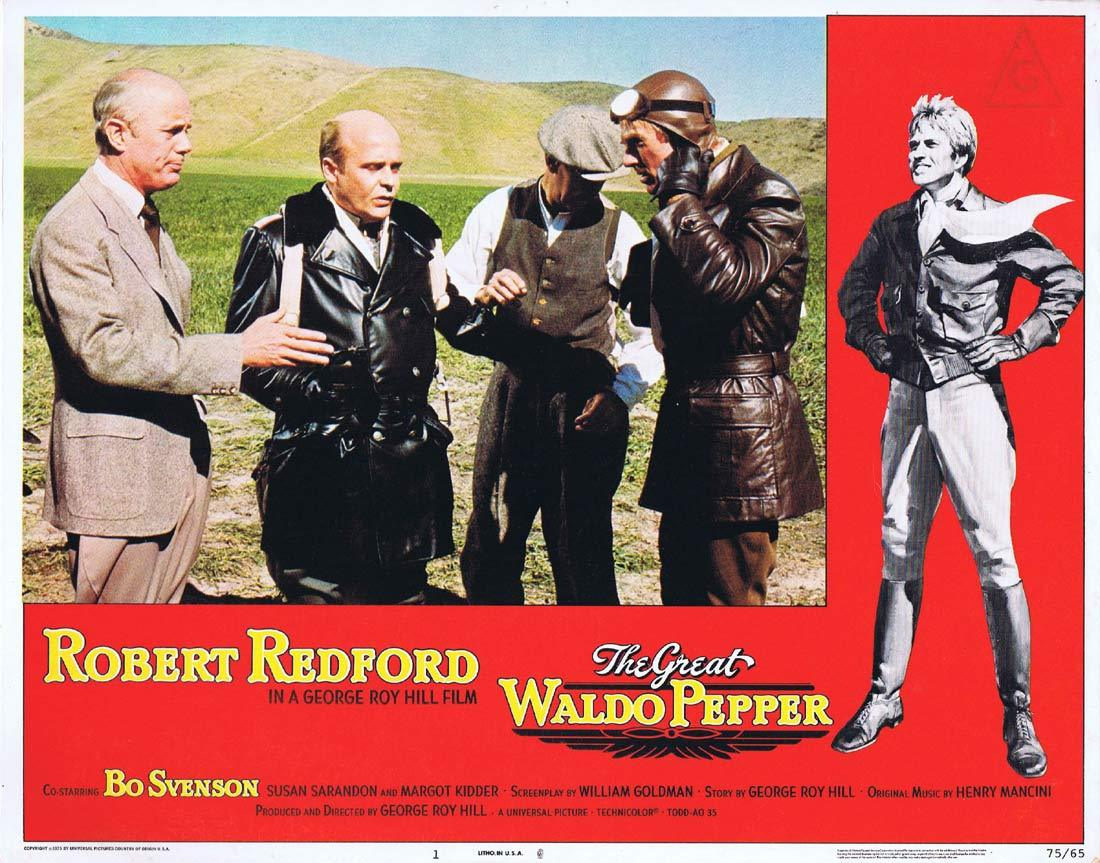 THE GREAT WALDO PEPPER Lobby Card 1 Robert Redford Bo Svenson