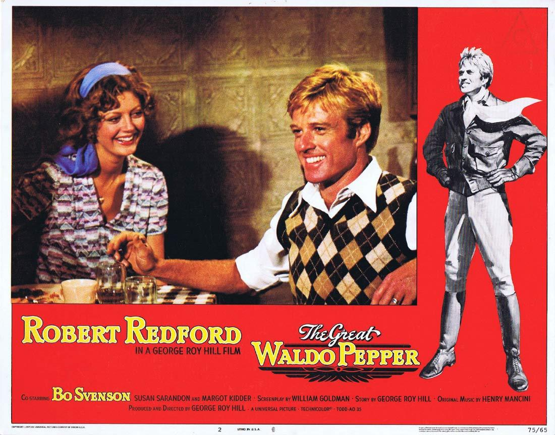 THE GREAT WALDO PEPPER Lobby Card 2 Robert Redford Bo Svenson