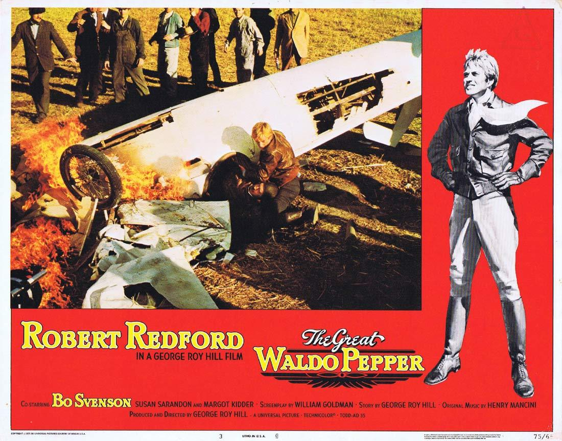 THE GREAT WALDO PEPPER Lobby Card 3 Robert Redford Bo Svenson