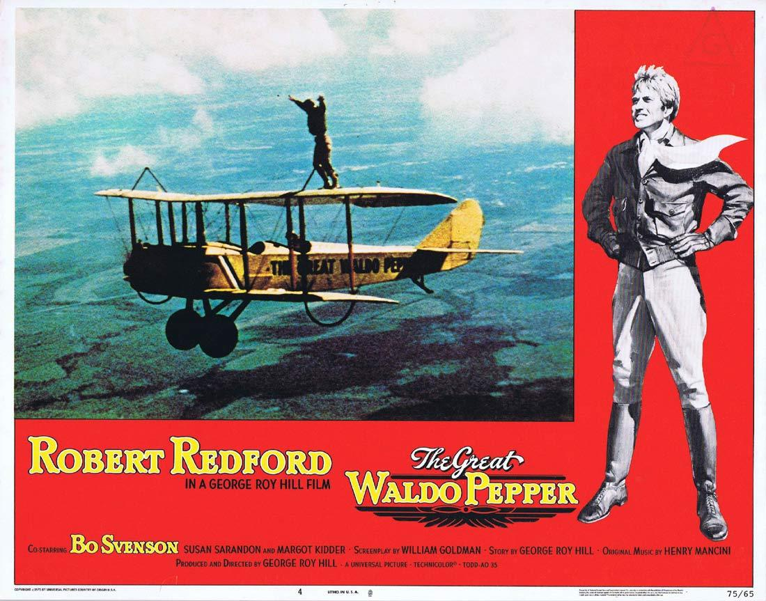 THE GREAT WALDO PEPPER Lobby Card 4 Robert Redford Bo Svenson