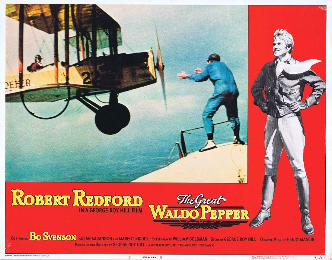 THE GREAT WALDO PEPPER Lobby Card 8 Robert Redford Bo Svenson