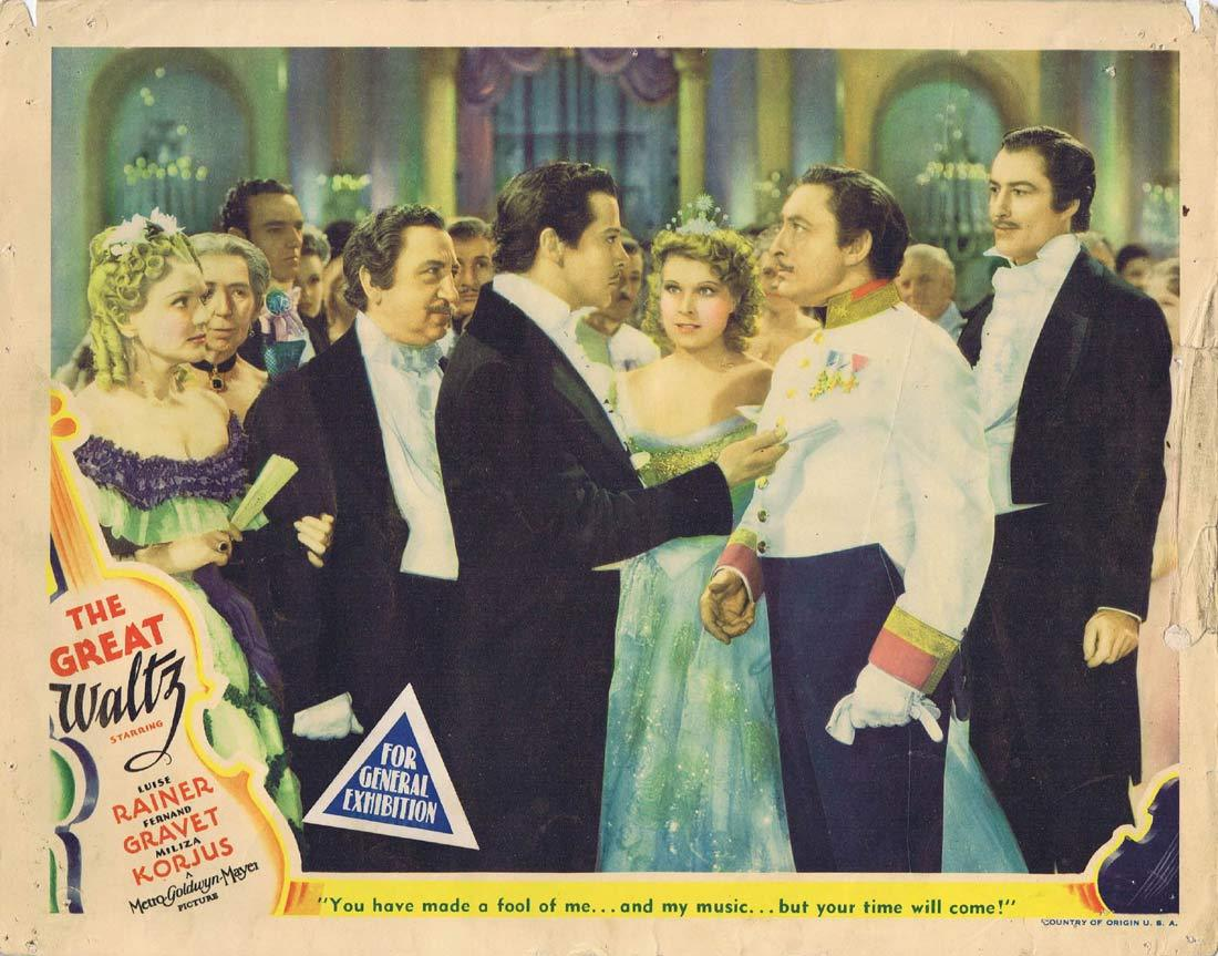 THE GREAT WALTZ Original Lobby Card 3 Luise Rainer Fernand Gravey