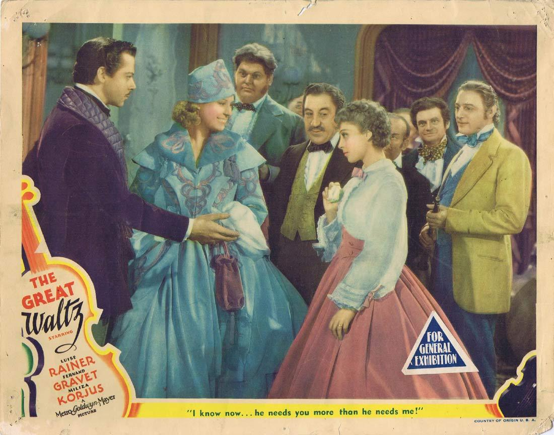 THE GREAT WALTZ Original Lobby Card 5 Luise Rainer Fernand Gravey