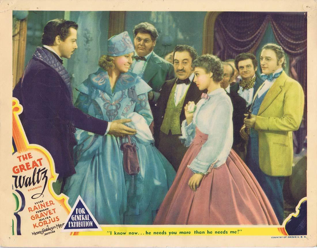THE GREAT WALTZ Original Lobby Card 6 Luise Rainer Fernand Gravey