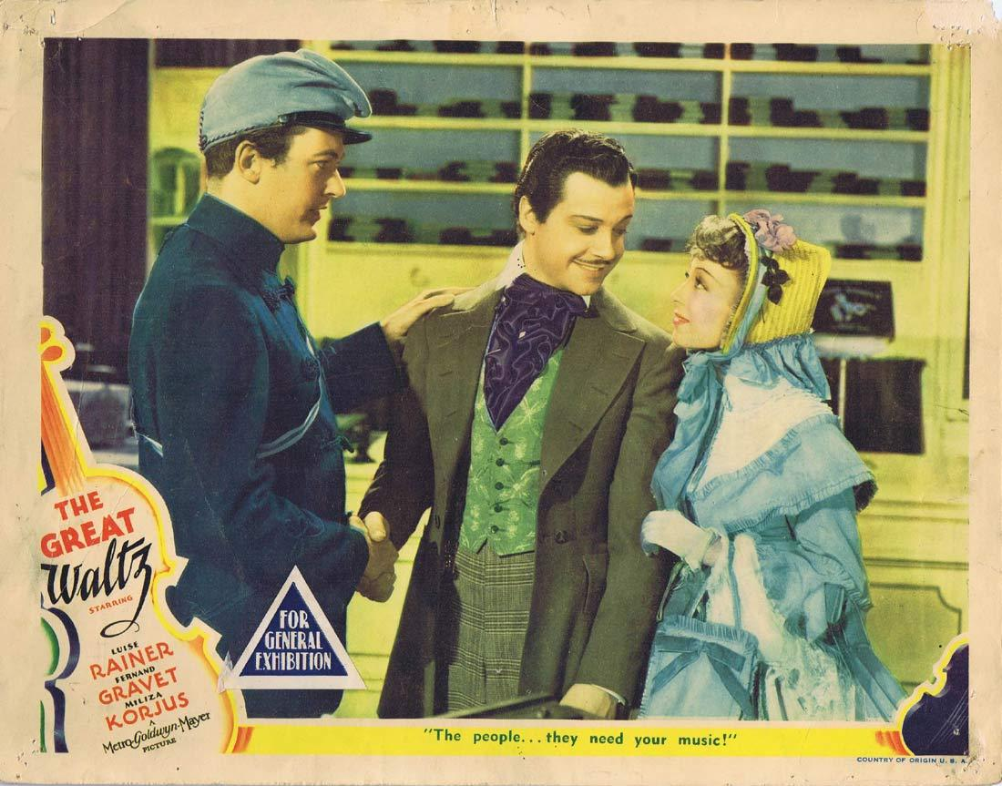 THE GREAT WALTZ Original Lobby Card 8 Luise Rainer Fernand Gravey
