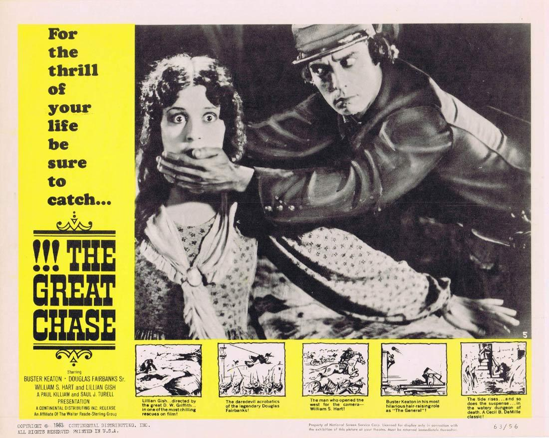 THE GREAT CHASE Lobby Card 5 Lillian Gish Buster Keaton Douglas Fairbanks