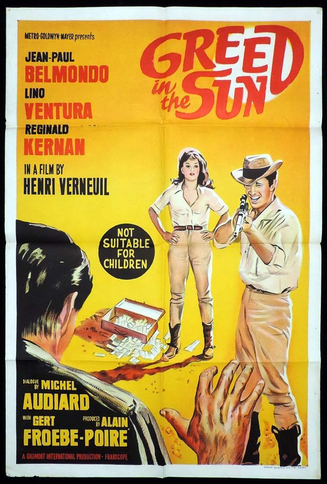 GREED IN THE SUN One Sheet Movie Poster Lino Ventura