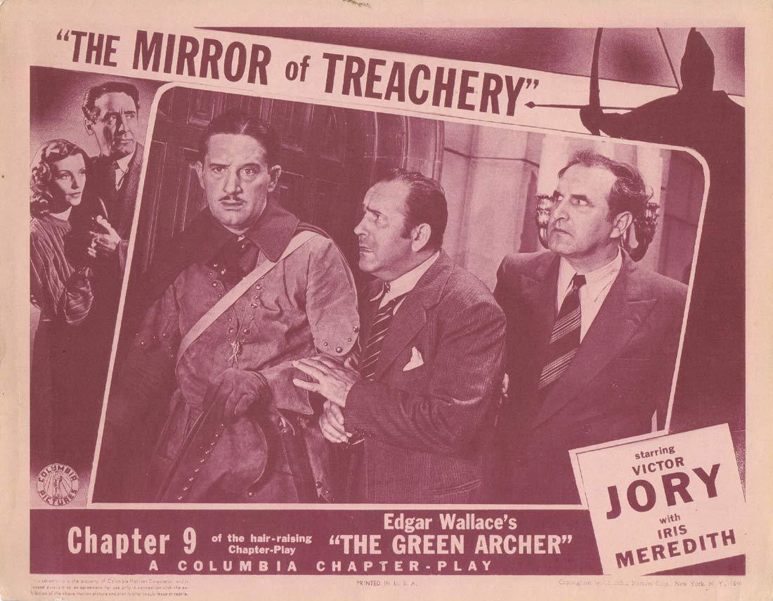 THE GREEN ARCHER Original Lobby Card Chapter 9 Columbia Serial Victor Jory