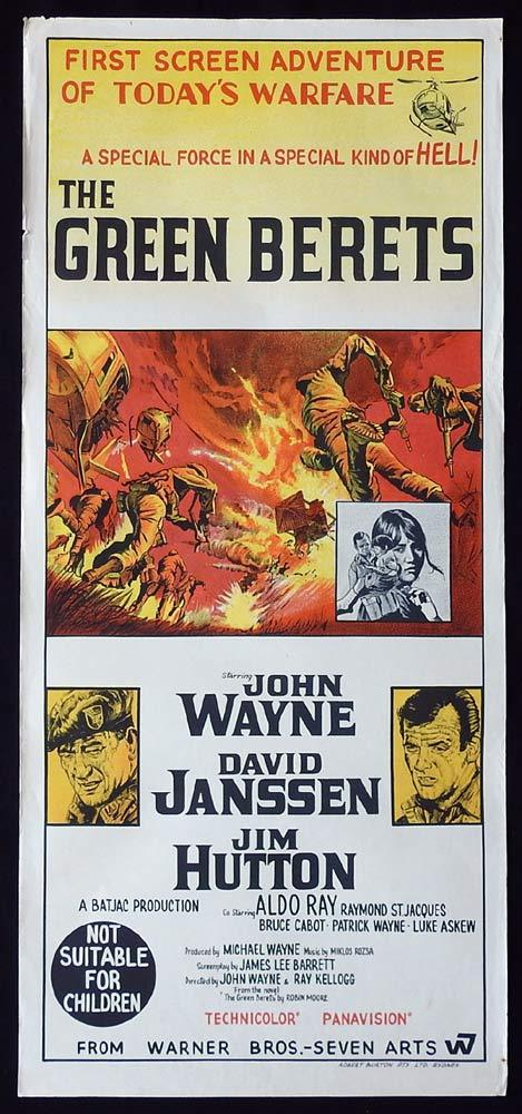 THE GREEN BERETS Original daybill poster John Wayne David Janssen