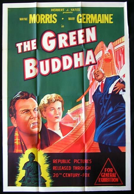 THE GREEN BUDDHA One Sheet Movie poster Wayne Morris Film Noir