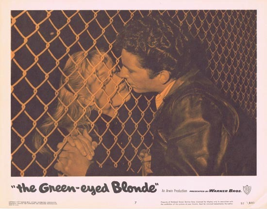 THE GREEN EYED BLONDE 1957 Lobby Card 7 Susan Oliver Bad Girls