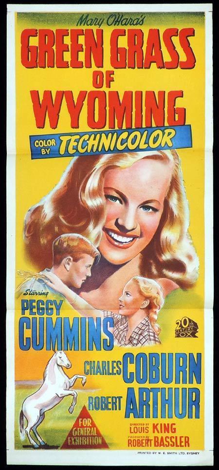GREEN GRASS OF WYOMING Original Daybill Movie Poster Loretta Young Peggy Cummins