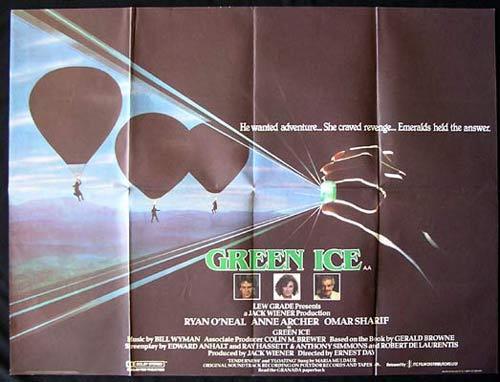 GREEN ICE British Quad Movie poster Omar Sharif