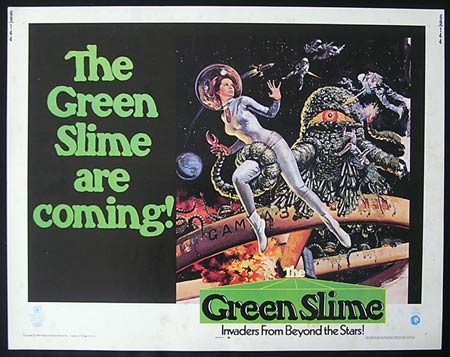 GREEN SLIME, The '69 US HALF SHEET Rare SCI FI poster
