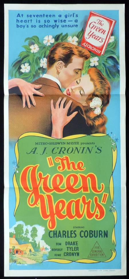 THE GREEN YEARS Original Daybill Movie Poster Charles Coburn Tom Drake