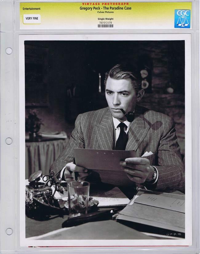 THE PARADINE CASE CGC graded Movie Still 1 1948 Gregory Peck Alfred Hitchcock