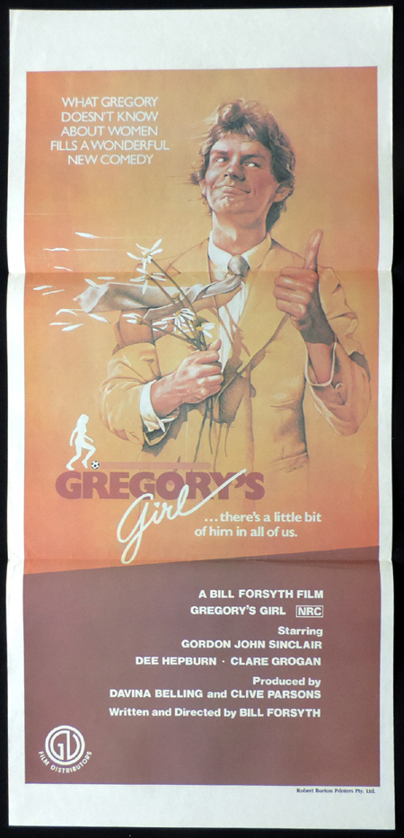 GREGORY'S GIRL Original Daybill Movie poster Gordon John Sinclair Bill Forsyth